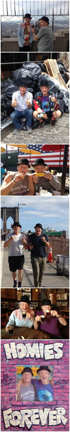 Patrick Stewart And Ian McKellen-These have got to be the best pictures, ever! Besties for life