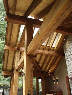 Reclaimed timbers at Ravenswood in Whistler, by Kindred Construction