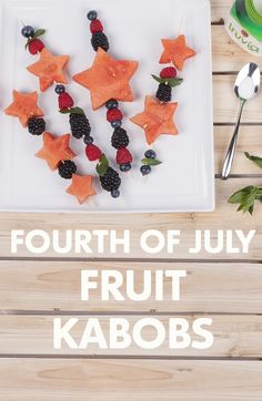 This star-spangled snack is a sweet addition to any patriotic party. Add a sprinkle of Truvia to taste.