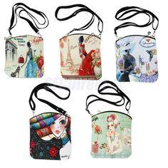 Satchel Cross Body Shoulder Hand Bag Canvas School College Girl Ladies Messenger