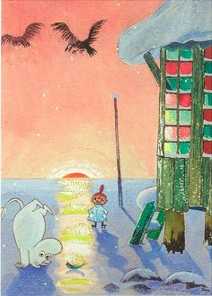 Tove Jansson's Moomins - I loved these stories and pictures ever since I discovered them as a child!!