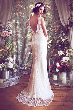 Beaded Lace Art Deco 1930s Inspired Sleeveless Bridal by rschone