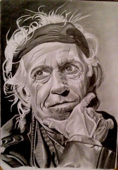 A forever rolling stone - Keith Richards. Graphite on bristol paper - such an interesting face to sketch - by Brian Shanks. Rock Posters, Concert Posters, The Rolling Stones, Rolling Stones Tattoo, Rolling Stones Keith Richards, Caricature Drawing, We Will Rock You, Celebrity Drawings, Portraits