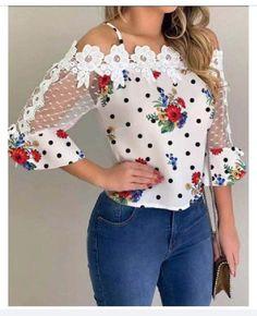 Trend Fashion, Womens Fashion, Style Fashion, High Fashion, Latest Fashion, Blouse En Jean, Elegantes Outfit, Blouse Online, Mode Outfits