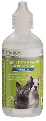 Tomlyn Opticlear Sterile Eye Wash Cats  Dogs 4oz  Helps relieve discomfort and itching -- Visit the image link more details.(This is an Amazon affiliate link)