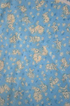 Blue Hill Fabric  Bunny Rabbits on Light Blue  44 by pumpkintruck, $12.50