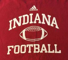 Indiana Hoosiers Football Adidas Large Short Sleeve Tee T-Shirt J1 #adidas #IndianaHoosiers