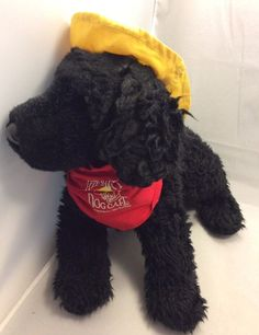 The Salty Dog Cafe Jake Black Yellow Hat Red Scarf SC FL Stuffed Animal Plush #Douglas