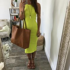 Adriana Lime Bodycon Dress