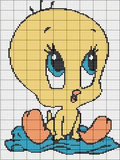 Tweety Bird x-stitch