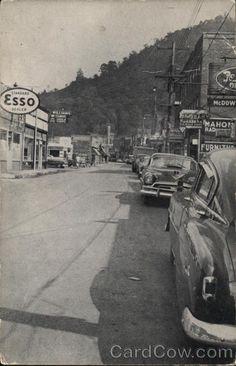McDowell Street, War, West Virginia postcard. Originally pinned by W Rivers onto McDowell County, West Virginia.
