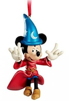 Mickey Mouse as Sorcerer's Apprentice sketchbook ornament (2011)