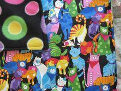 "KITTEN KABOODLE Catnip Blanket KITTEN KABOODLE Catnip Blanket  Super Soft Flannel Print Fabric The Reverse Side is a Coordinating Print Fleece Each Blanket has a Generous Hand Full of 100% Organic Catnip Grown in Montana ONLY THE BEST !!!!  18″ x 24 "" in size"