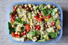 Naturalna kuchnia wegetariańska: Danie do lunch boxa - komosa ryżowa z warzywami
