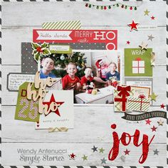 Ho Ho Ho **Simple Stories DT** - Scrapbook.com - Made with the Simple Stories Claus & Co. collection