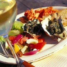 Baked Oysters Florentine Recipe   MyRecipes.com