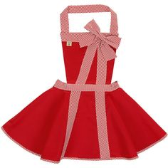 Little Nell 'It's a Wrap' Apron ($43) ❤ liked on Polyvore featuring home, kitchen & dining, aprons, red, red kitchen accessories, cotton apron, red apron, striped apron and stripe apron