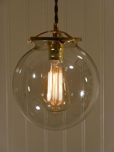 Hereford clear glass globe light 100 each this is the pendant we 8 inch hand blown smoked glass globe pendant light mozeypictures Image collections