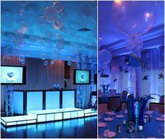 Under The Sea Blue Bat Mitzvah Party - Lighting