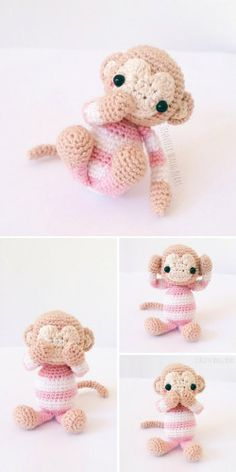 Year of the Monkey (2016): free amigurumi monkey crochet pattern by Jennifer Wang