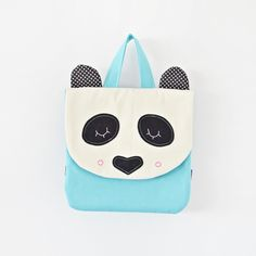 Little Panda backpack by LadyStump on Etsy Cute Backpacks, Girl Backpacks, Personalized Toddler Backpack, Animal Bag, Little Panda, Back Bag, Small Backpack, Baby Store, Kids Bags