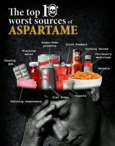 Aspartame is a slow toxin ~ check your foods and stay away from it!!