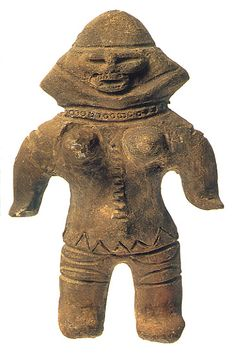 Japanese Wonder ceramic figurine. B.C.4,500 - 3,300 This figurine was unearthed on Ibaragi Japan.