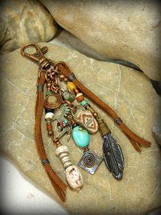 Tribal Zipper Pull Southwest Purse Tassel Native American