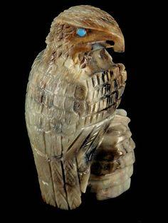 Zuni eagle fetish carvings #9