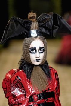 Bat wing hair ornament for Christian Dior Haute Couture, Fall/Winter 2006