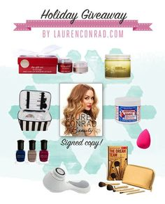 win lauren conrad's favorite beauty products! click to enter now :-) #giveaway