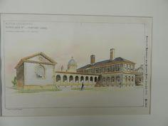 Pathological Bldg&Mortuary Chapel, Boston City Hospital, MA, 1894. Original Plan. Edmund M. Wheelwright.