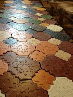 TsourlakisTiles - It is not something new. just unique! Ceramic Tile Crafts, Ceramic Mosaic Tile, Stone Pavement, Paver Blocks, Paving Design, House Outside Design, Concrete Paving, Cement Art, Stone Molds