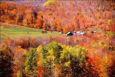 New Hampshire, Mt Washington Valley in the fall is beautiful.