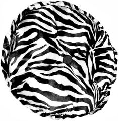 "Zebra Around Africa Pillow  Elegant Sophisticated!  Just two words that come to mind when viewing this Sculptured Round Animal Print faux Fur Pillow, with center button. Sure to be an attention getter in any location. Made with 100% polyester animal print faux fur. Spot clean. Approximately: 21""   $42.00"