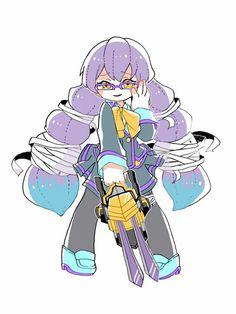 Anime, Vocaloid, Kawaii, Compass, Cool Art, Digital Art, Drawings, Robots, Illustration
