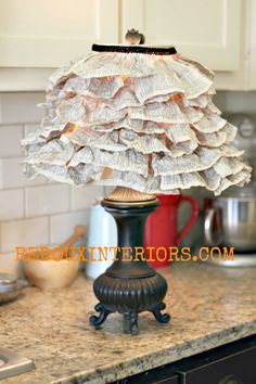 Bookmark This Lamp Shade Made of Book Pages