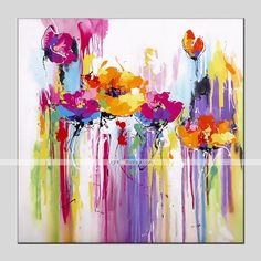 Online Shop Watercolor Abstract Flowers Painted by Skillful Painter Oil Painting Hand-painted Coloerful Beautiful Plant Canvas Oil Painting Oil Painting Abstract, Abstract Watercolor, Abstract Canvas, Abstract Flowers, Watercolor Flowers, Arte Pop, Modern Art Prints, Modern Paintings, Arte Floral