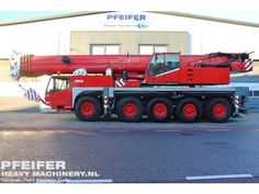 Used telescopic crane available at Pfeifer Heavy Machinery. Item Number PHM-Id 07340, Manufacturer TEREX-DEMAG, Model AC100, Year of construction 2004, Kilometers 150527, Hours 7368, Hours superstructure 11179, Loading (lifting) capacity (kg) 100000, Boom length maximum (m) 50, Fuel Diesel More cranes at http://www.pfeifermachinery.com.