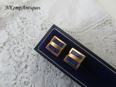 Designer Lanvin cufflinks by Nkempantiques on Etsy