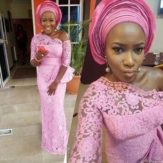 Adorable Aso Ebi Styles Slayed Over The Weekend amillion styles by Zahra Delong - 2019 Trends African Lace Styles, African Lace Dresses, Latest African Fashion Dresses, African Dresses For Women, African Print Fashion, Africa Fashion, African Women, African Style, Ankara Fashion