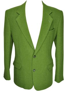 Rare Solid Green Harris Tweed Blazer from Rock It Again #vintage #rockitagain