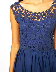 Knitting For All: Blue flowers