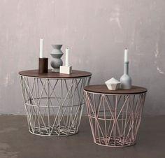 Solid og vakker bordplate som passer til Wirebasket fra Ferm Living. Small: D 40 cm Medium: D 50 cm Large: D 60 cm