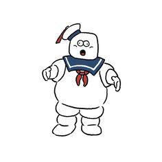 Marshmallow man #marshmallowman #ghostbusters #seijimatsumoto #seiji.matsu #松本誠次 #art #illustration #illustrator
