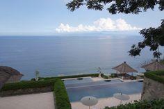 Tiered pools at Amankila, Bali