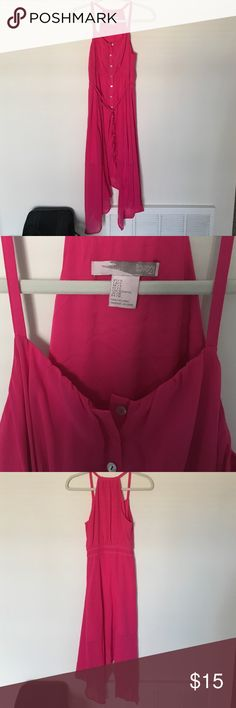Maxi dress Pink forever 21 maxi dress. The bottom isn't one length, is longer in the sides and goes down to about mid-shin length. Never worn, perfect condition! No trades. Forever 21 Dresses