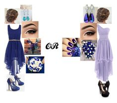 """Blue & Purple Wedding Bridesmaids"" by sammieburkeee on Polyvore featuring Iron Fist"
