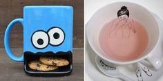 24 Of The Most Creative Cup And Mug Designs Ever     Cookie Monster mug (https://www.etsy.com/listing/104935165/googly-eyed-monster-ceramic-cookie-and)