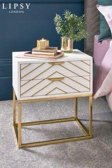 Buy Lipsy Bedside Table from the Next UK online shop Bedroom Furniture Sets, Bed Furniture, Bedroom Sets, Furniture Ideas, Master Bedroom, Furniture Design, Bedrooms, Decoration Bedroom, Shops